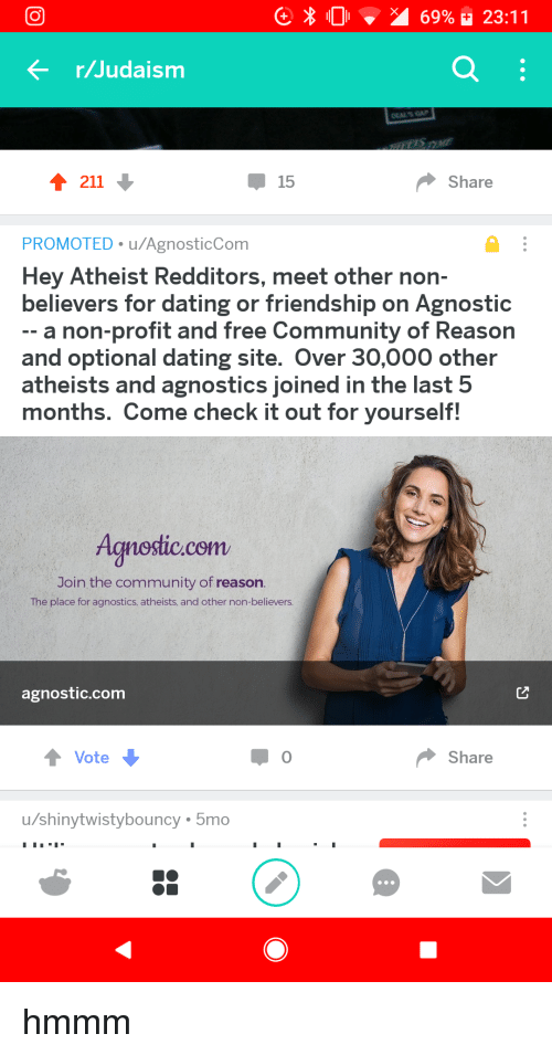 Dating site for atheist