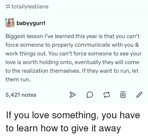 lesson learned about love