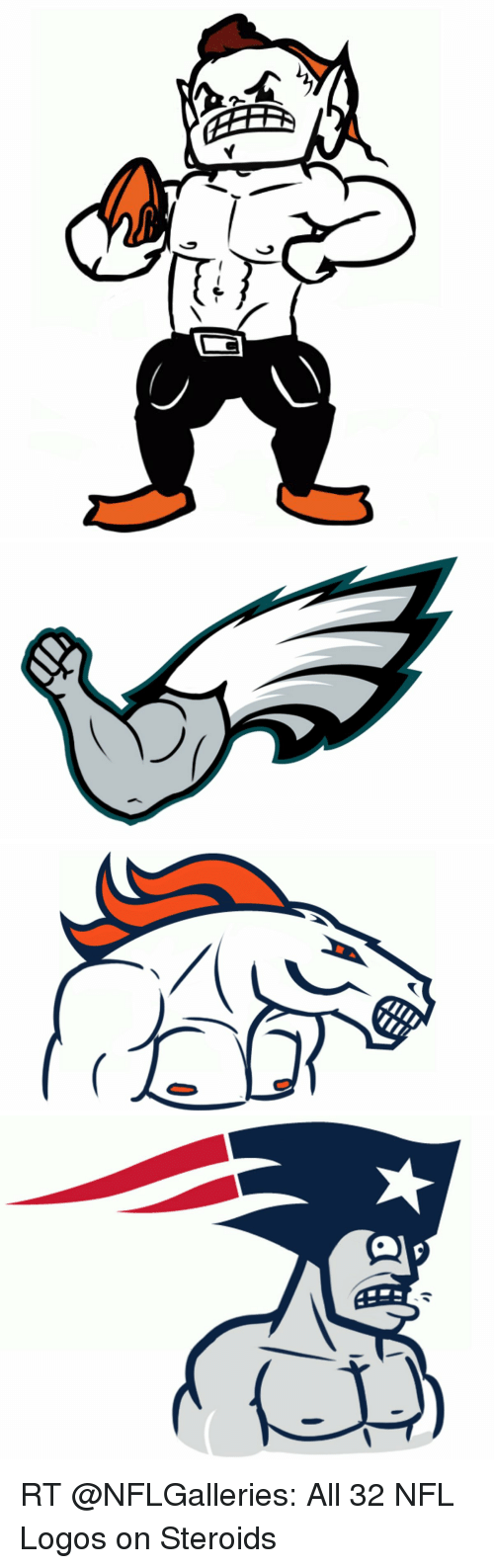 Nfl logos on steroids i feel great on steroids
