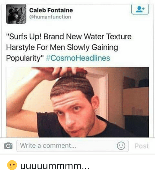 Caleb Fontaine Function Surfs Up Brand New Water Texture Harstyle