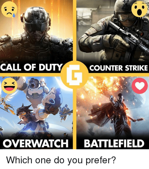 call of duty counter strike overwatch battlefield which one do 9298698 ✅ 25 best memes about call of duty call of duty memes