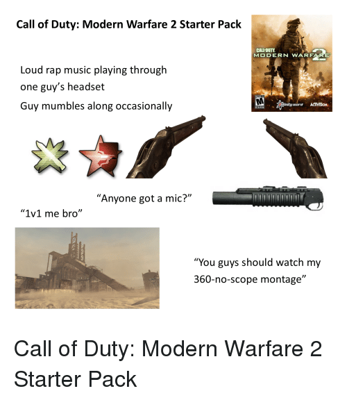 Call of Duty Modern Warfare 2 Starter Pack CALL-DUTY MODERN WARFARE