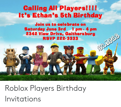 Calling All Players It S Ethan S 5th Birthday Join Us To Cele
