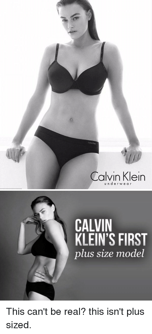 54a8735f92 Calvin Klein U N D E R W E a R CALVIN KLEIN S FIRST Plus Size Model ...