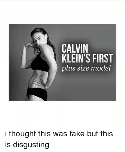 calvin klein's first plus size model i thought this was fake but