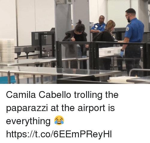 Trolling, Girl Memes, and Paparazzi: Camila Cabello trolling the paparazzi at the airport is everything 😂 https://t.co/6EEmPReyHl