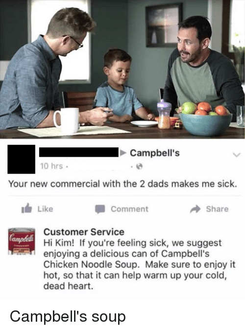 Image result for campbell's soup 2 dads meme