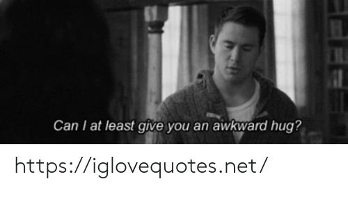 Awkward, Awkward Hug, and Net: Can I at least give you an awkward hug? https://iglovequotes.net/