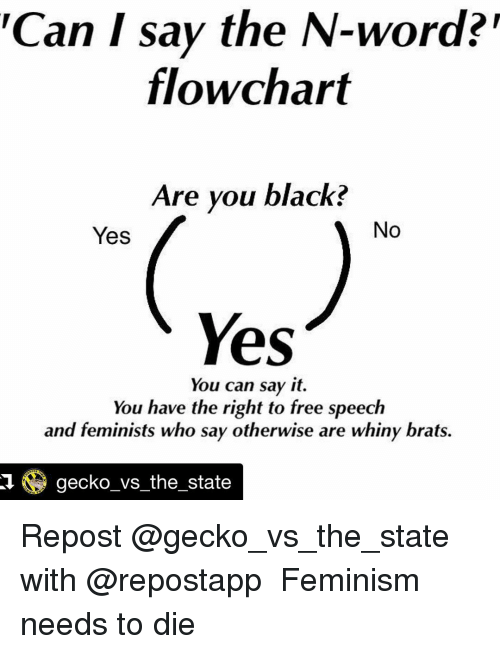 Can I Say the NWord Flowchart Are You Black No Yes Yes You Can – Word Flow Chart