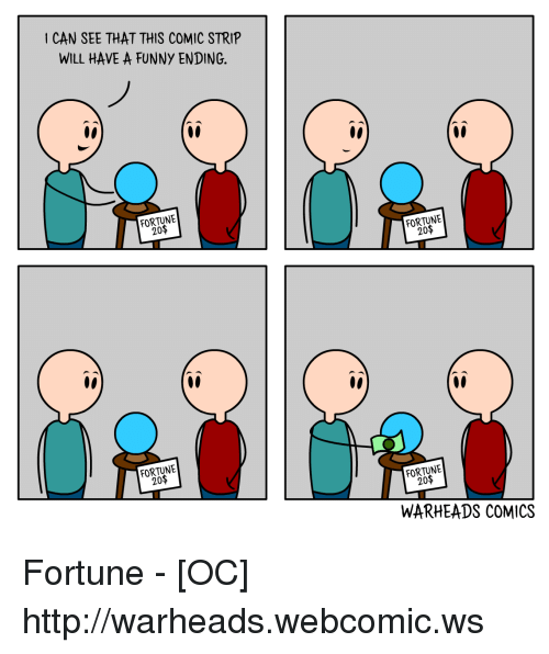 Can See That This Comic Strip Will Have A Funny Ending Fortune 20