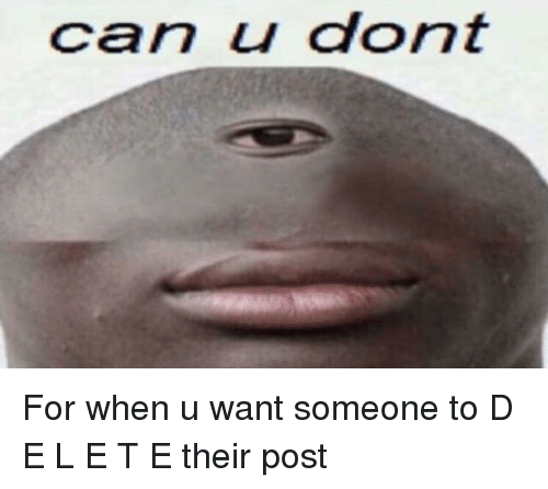 Can U Dont