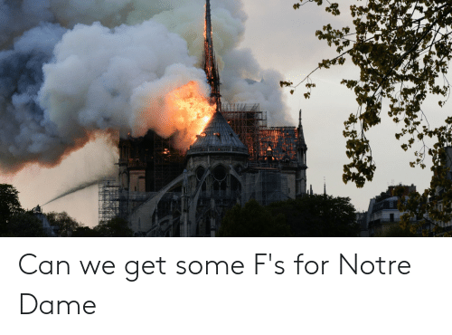 Notre Dame, Dank Memes, and Can: Can we get some F's for Notre Dame