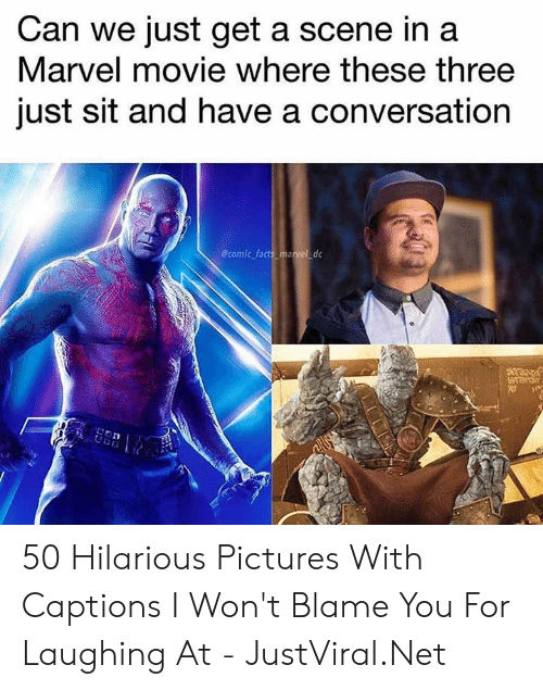 Facts, Marvel, and Movie: Can we just get a scene in a  Marvel movie where these three  just sit and have a conversation  @comic facts_marvel dc 50 Hilarious Pictures With Captions I Won't Blame You For Laughing At - JustViral.Net