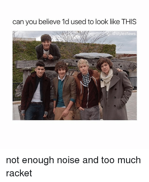 Memes Too Much And Can You Believe 1d Used To Look Like Not Enough Noise Racket