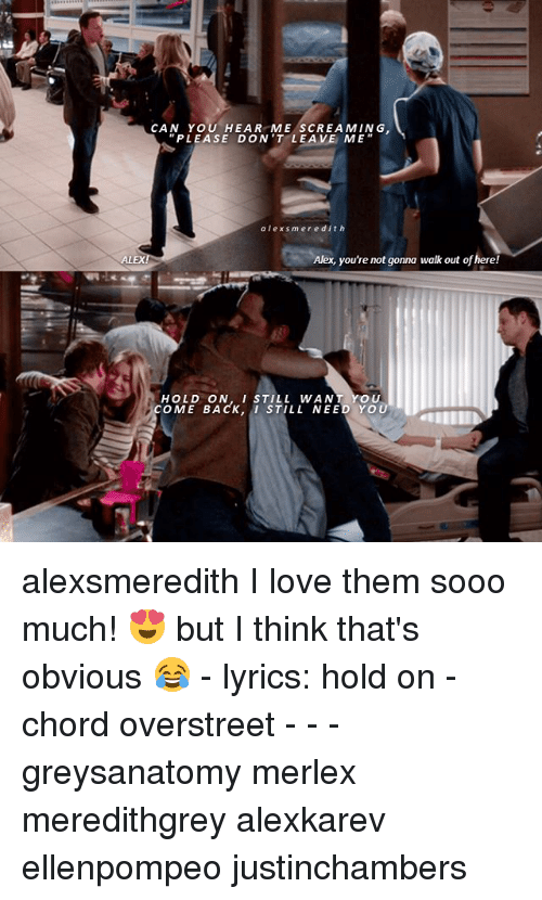 Can You Hear Me Screaming Please Dont Leave Me Alexsmeredith Alex
