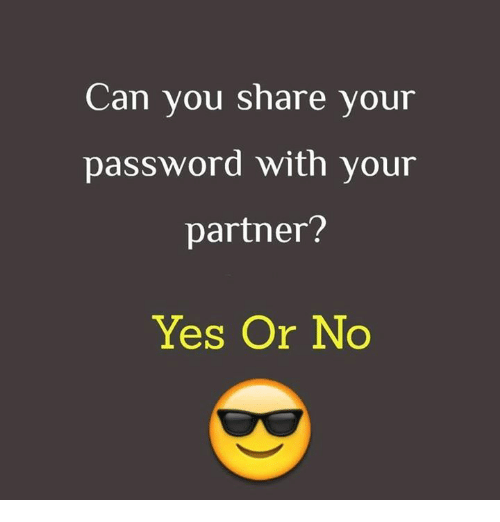 Who Can You Share Your Passwords With