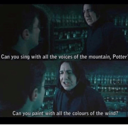 Can You Sing With All The Voices Of The Mountain Can You