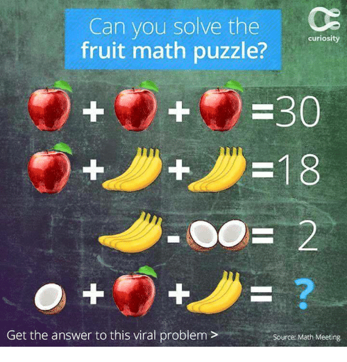 Can You Solve This Viral Math Puzzle That Is Boggling: Can You Solve The Fruit Math Puzzle? Curiosity Get The