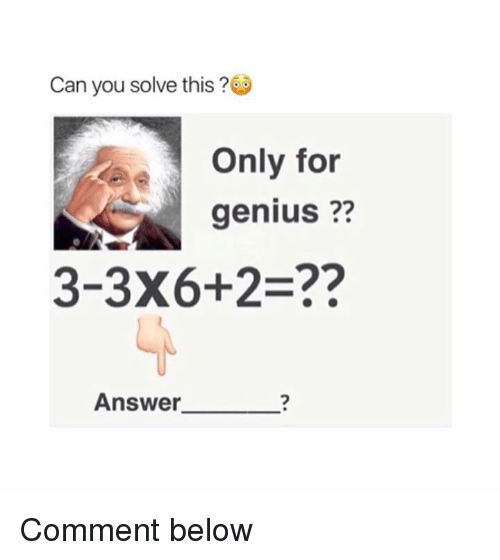 Can You Solve This Only For Genius 3 3x62 Answer Comment Below