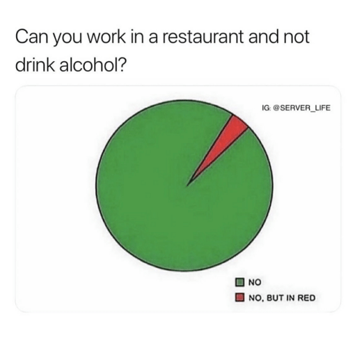 Can You Work In A Restaurant And Not Drink Alcohol Ig Life