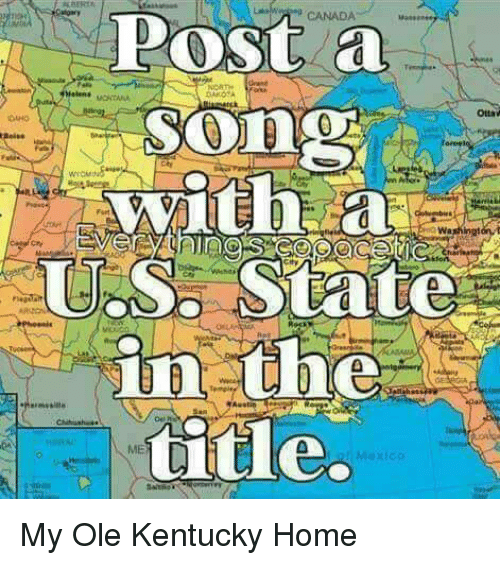 Map Of Canada Song.Canada Post A Song With A Us Siate In The Title Oaho Ei Washington