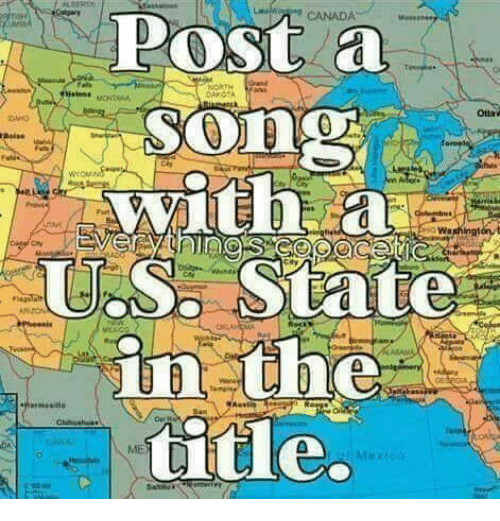 Map Of Canada Song.Canada Post A Song With A Us States Otta Oaho Es Washingtont 4 Title