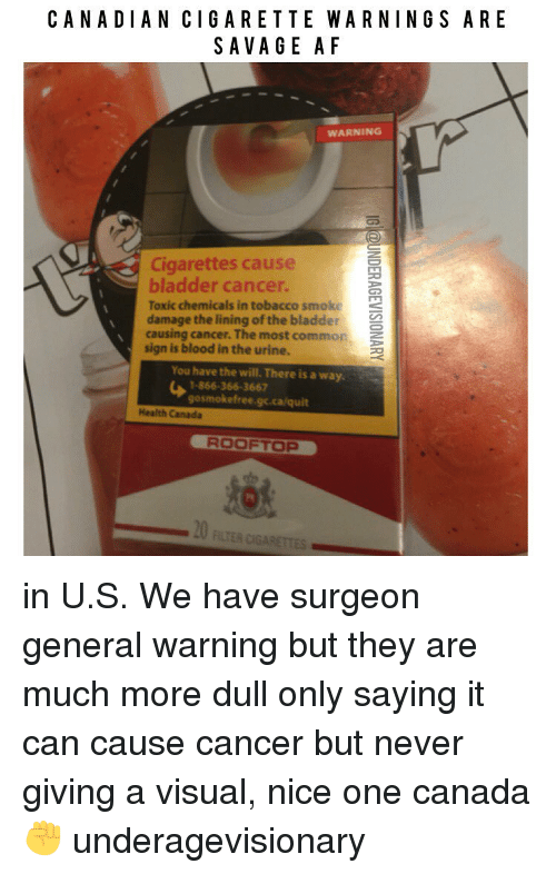 Bladder Cancer From Smoking