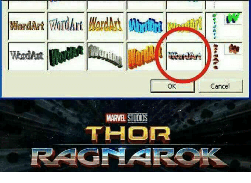 Memes, Thor, and 🤖: Cancel  OK  MARVE STUDIOS  THOR  RAGNAROK