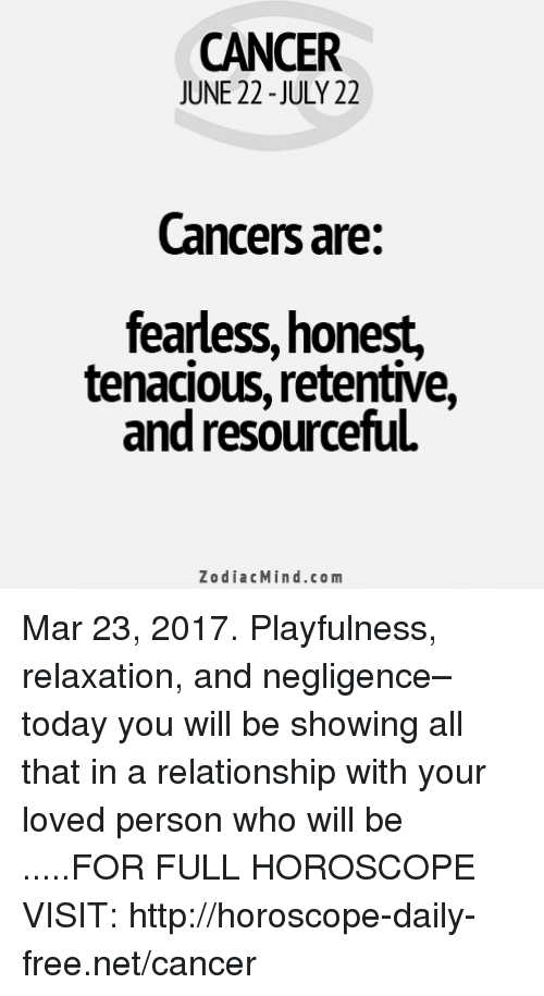 horoscope for today cancer