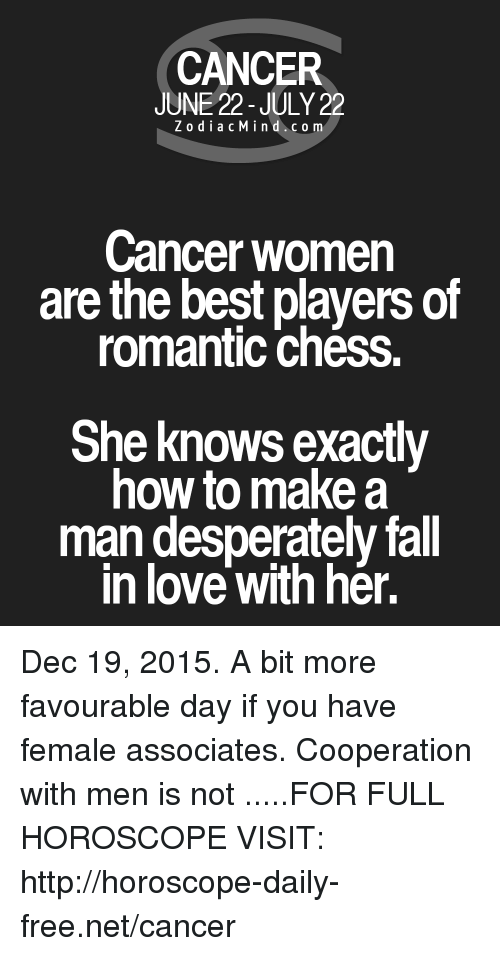 How to get a cancer man to fall in love