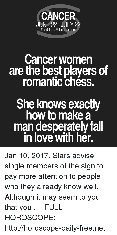 cancer woman love horoscope today