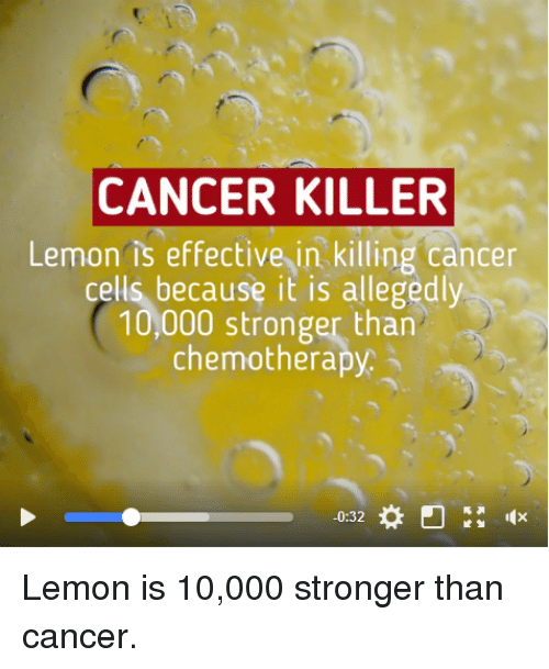 CANCER KILLER Lemon Is Effective in Killing Cancer Cells Because It
