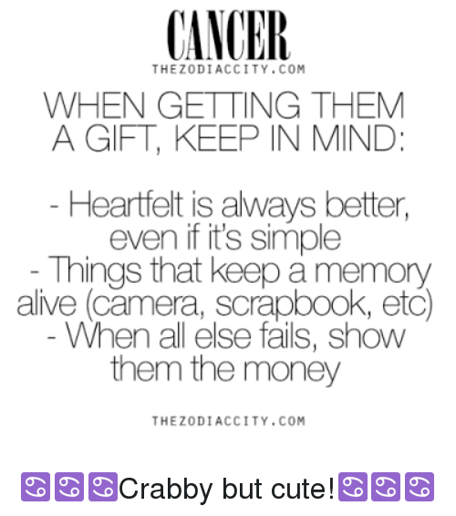 Cancer Thezodiaccity Com When Getting Them A Gift Keep In Mind