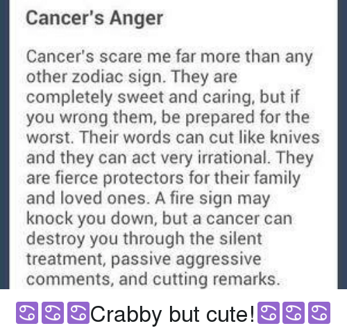 Cancer's Anger Cancer's Scare Me Far More Than Any Other