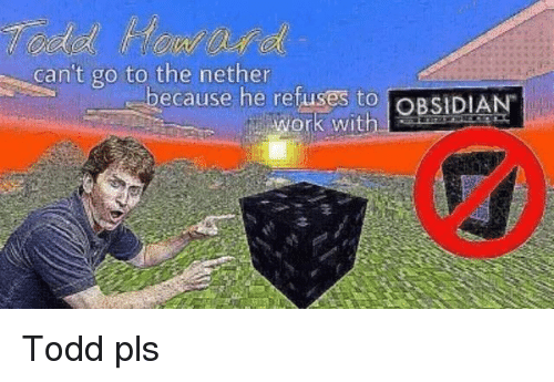 Dank, Work, and 🤖: canit go to theanie he refuses to OBSIDIAN  because he retuses to OBSIDIA  ว่า  work with Todd pls