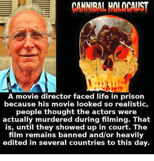 Cannibal Holocaust A Movie Director Faced Life In Prison Because His