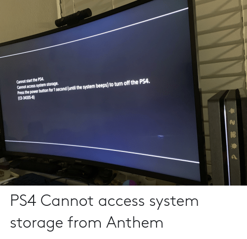 Cannot Start the PSA Cannot Access System Storage Press the