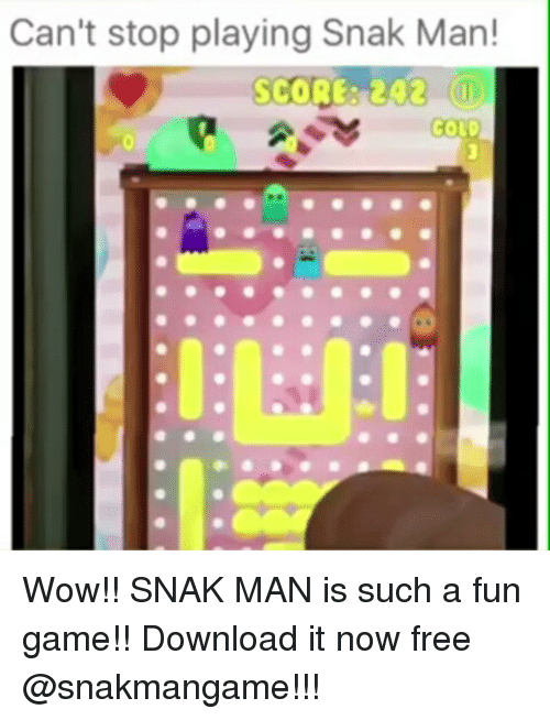 Can't Stop Playing Snak Man! SCORE 242 Wow!! SNAK MAN Is Such a Fun