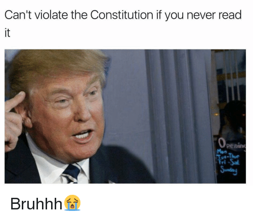 Memes, 🤖, and Sal: Can't violate the Constitution if you never read  Operim  Fri -Sal. Bruhhh😭