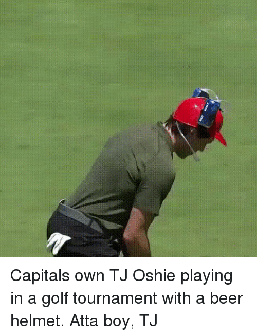 f6a06a22481 Beer, Funny, and Golf: Capitals own TJ Oshie playing in a golf tournament