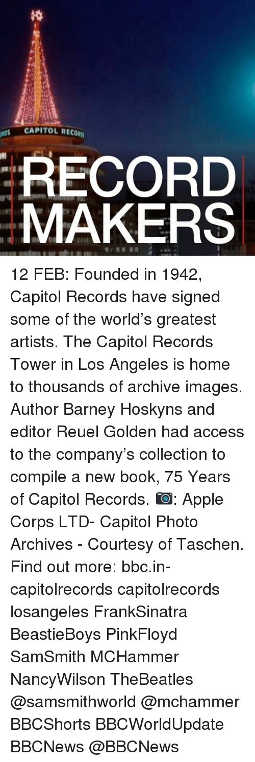 CAPITOL RECORM RECORD MAKERS 12 FEB Founded in 1942 Capitol