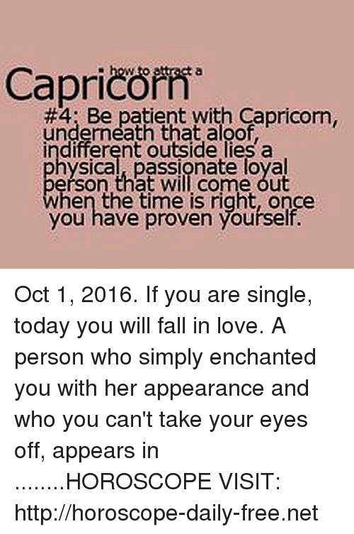 free capricorn love horoscope