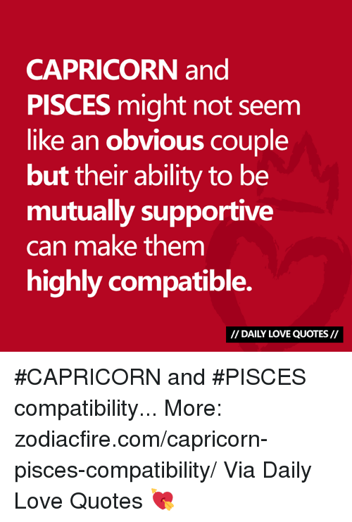 Capricorn and pisces compatability