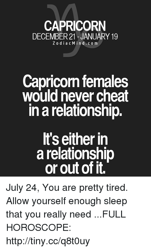 why do capricorns cheat on you