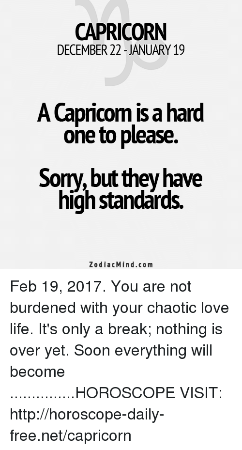 capricorn horoscope about love life