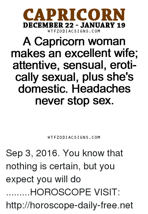 The capricorn woman sexuality