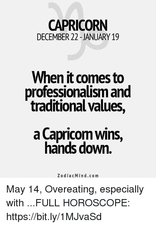 CAPRICORN DECEMBER 22 -JANUARY 19 When It Comes to