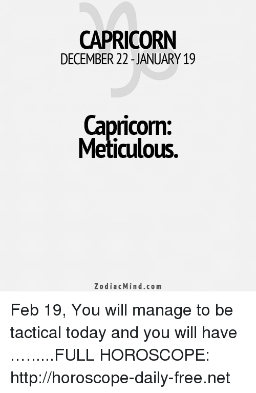 19 february capricorn horoscope
