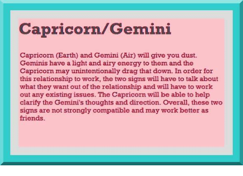capricorn gemini dating