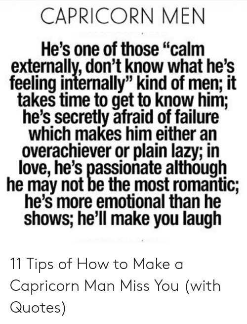 How to tell a capricorn man loves you